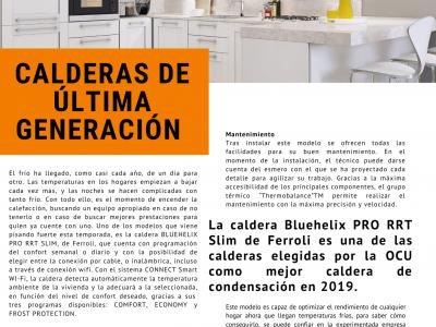 Publireportaje Caldera Bluehelix Pro RRT Ferroli Octubre