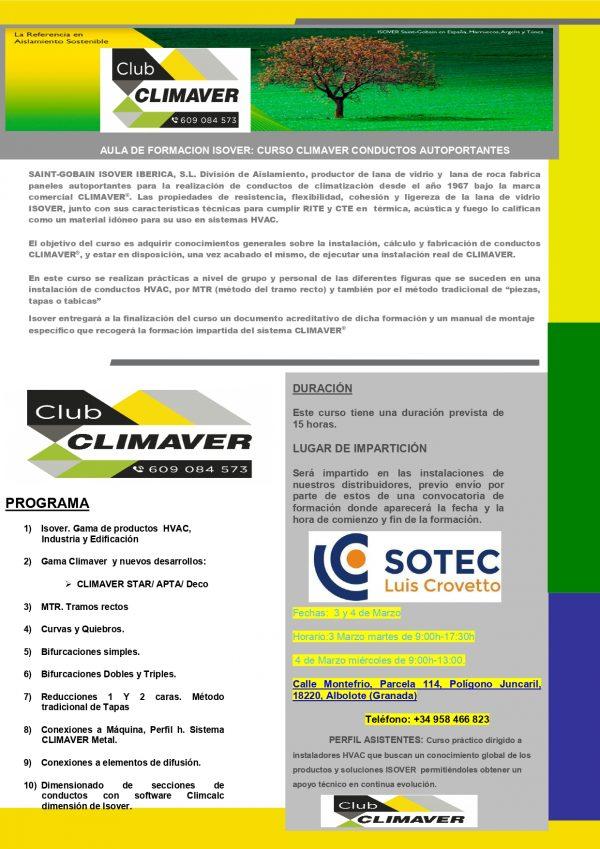 CURSO CLIMAVER GRANADA SOTEC