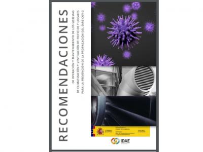 Guía de Sanidad de recomendaciones para el uso de sistemas de climatización y ventilación en locales públicos