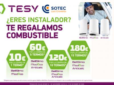 Este invierno combustible gratis con Tesy y Sotec